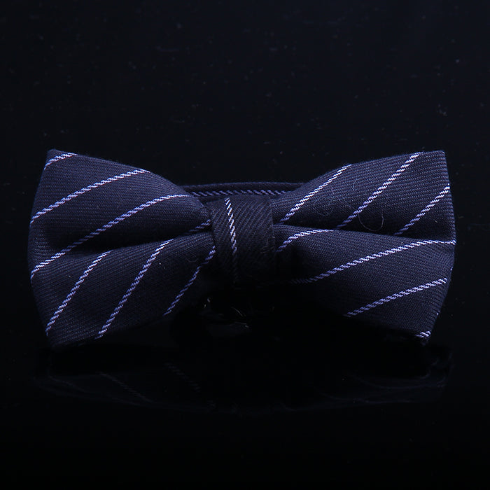 CHALK STRIPE BOW TIES