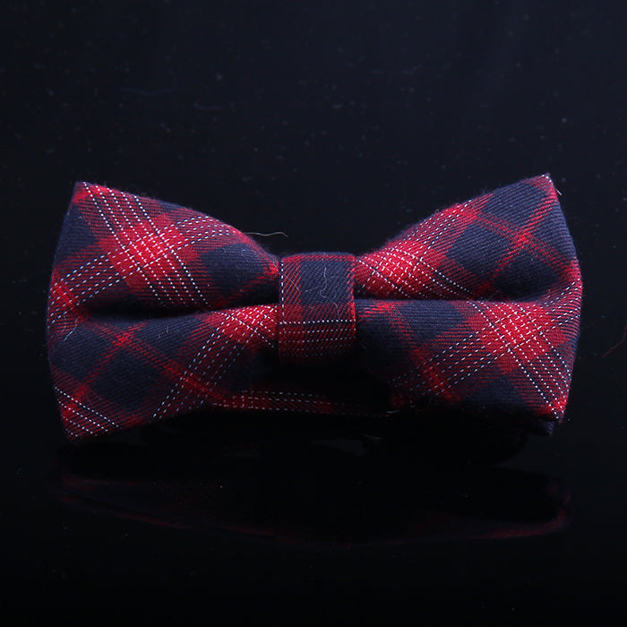 MULTI TARTAN PLAID BOW TIES