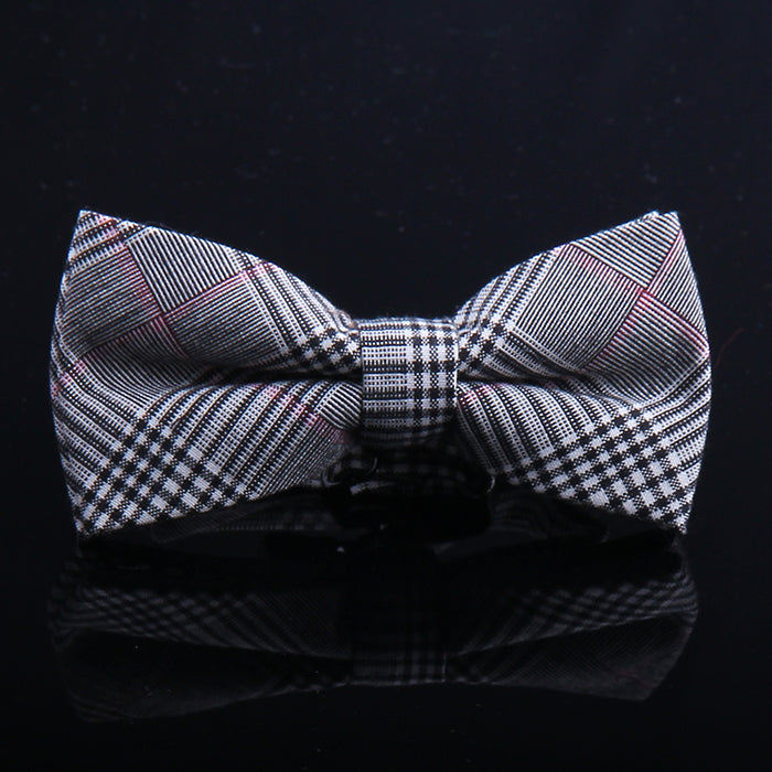 GLEN INTRICATE PLAID BOW TIES