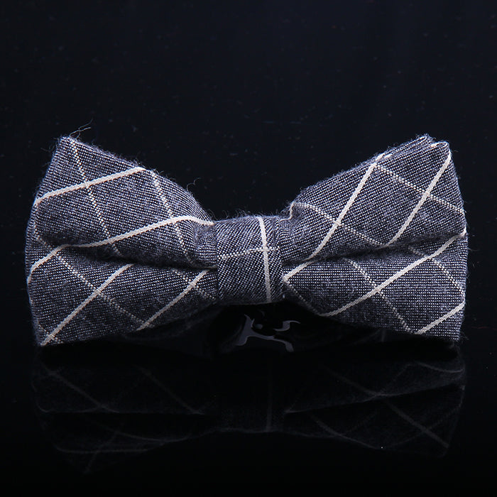 PIN LINE PLAIDS BOW TIES
