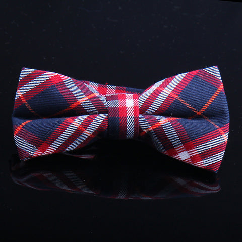 DIAGONAL BUFFALO PLAID BOW TIES