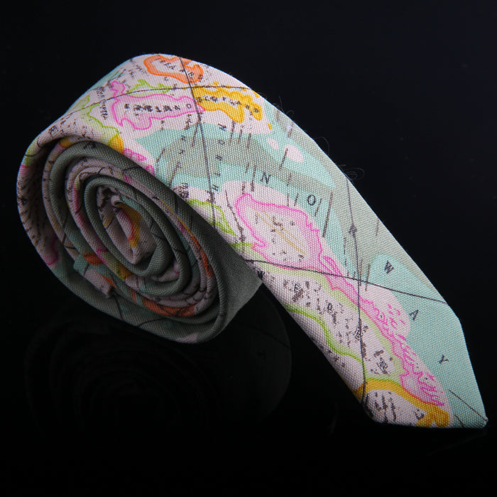 MAP PRINTED TIES