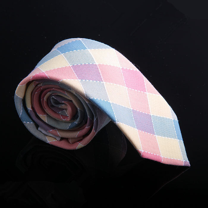 MULTI DOBBY GINGHAM TIES