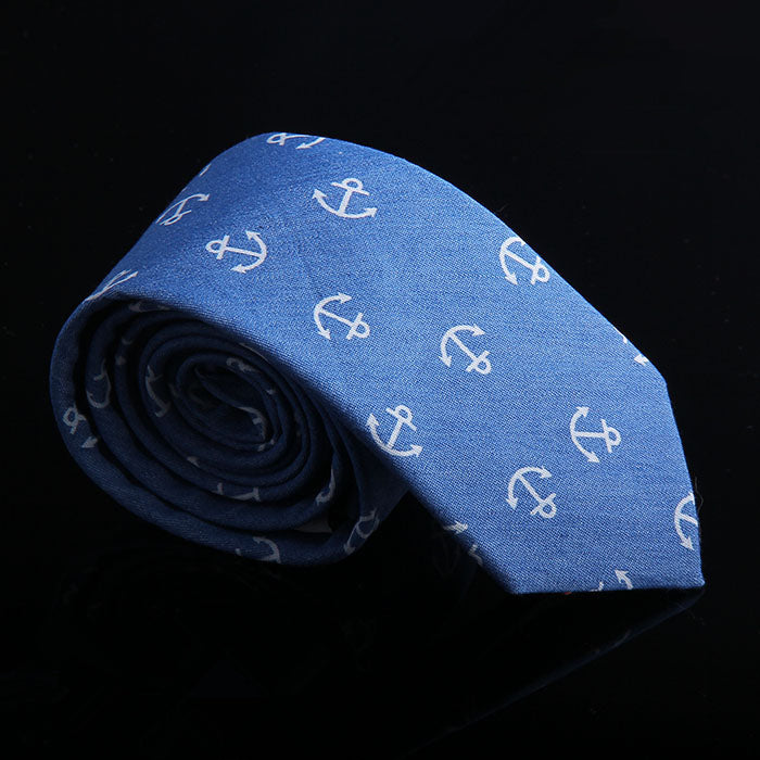 ANCHOR DENIM TIES