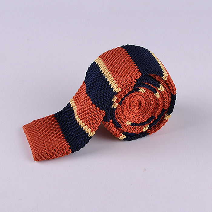 MULTI COLOR STRIPE KNIT TIES