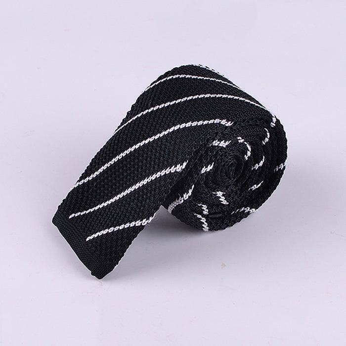 DIAGONAL PINSTRIPE KNIT TIES