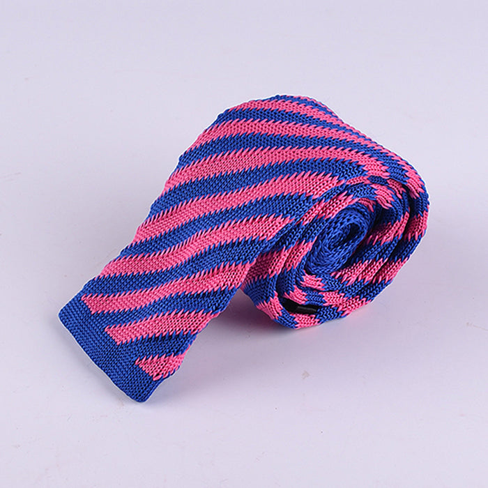 DIAGONAL CHALK STRIPE KNIT TIES