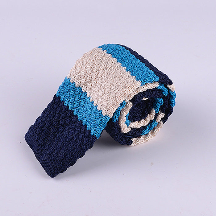 WIDE MULTI STRIPE KNIT TIES