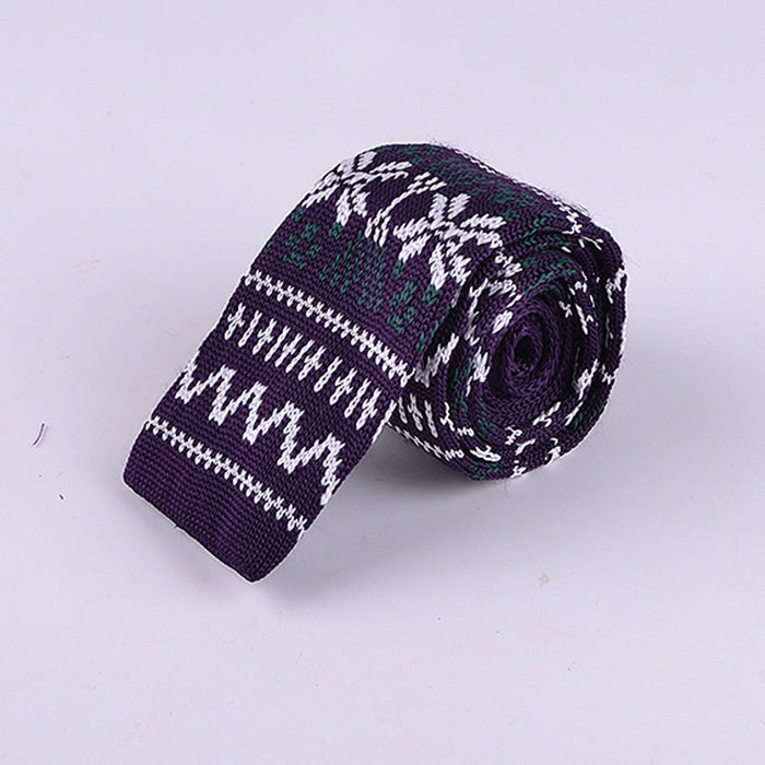 FAIR ISLE WINTER KNIT TIES