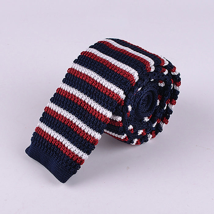 EVEN STRIPE KNIT TIES