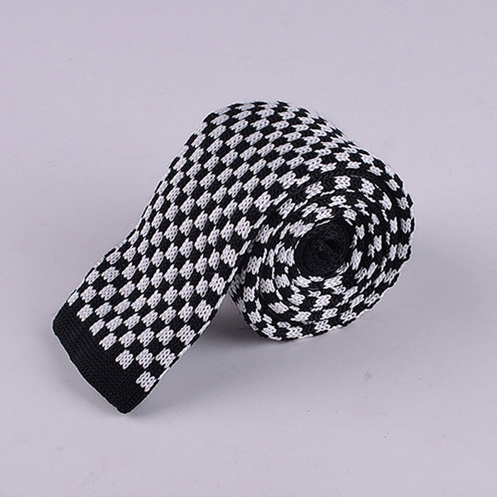 CHESSBOARD KNIT TIES