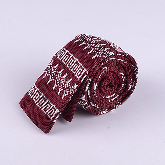 GREEK GEOMETRIC KNIT TIES