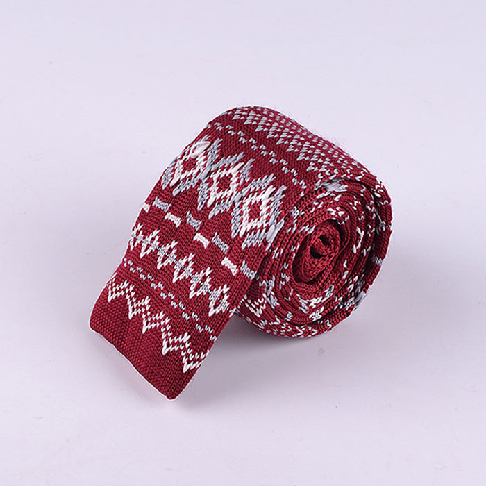 FAIR ISLE DIAMOND KNIT TIES
