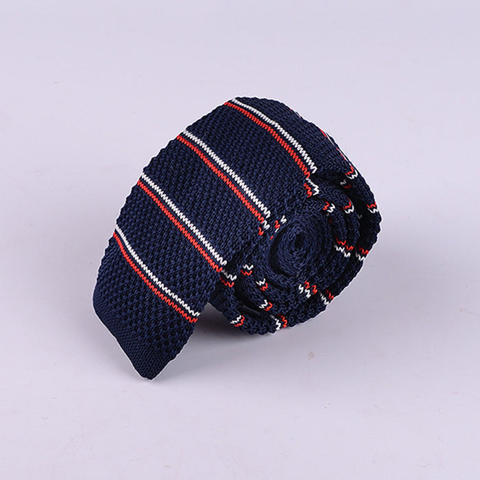 FRENCH STRIPE KNIT TIES