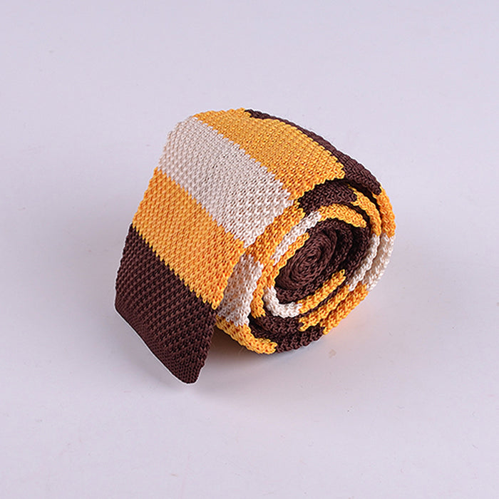 MULTI RUGBY STRIPE KNIT TIE