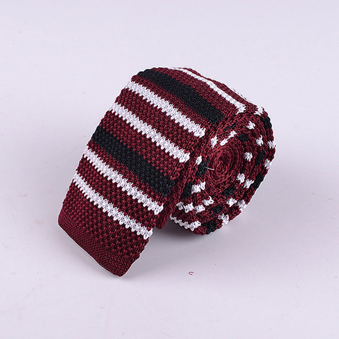 SHADOW STRIPE KNIT TIES