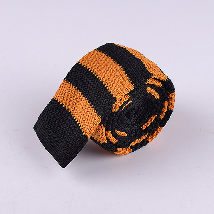 RUGBY STRIPE KNIT TIES