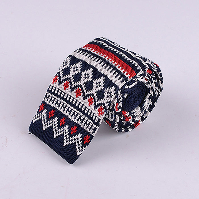 FAIR ISLE MULTI COLOR DIAMOND KNIT TIES