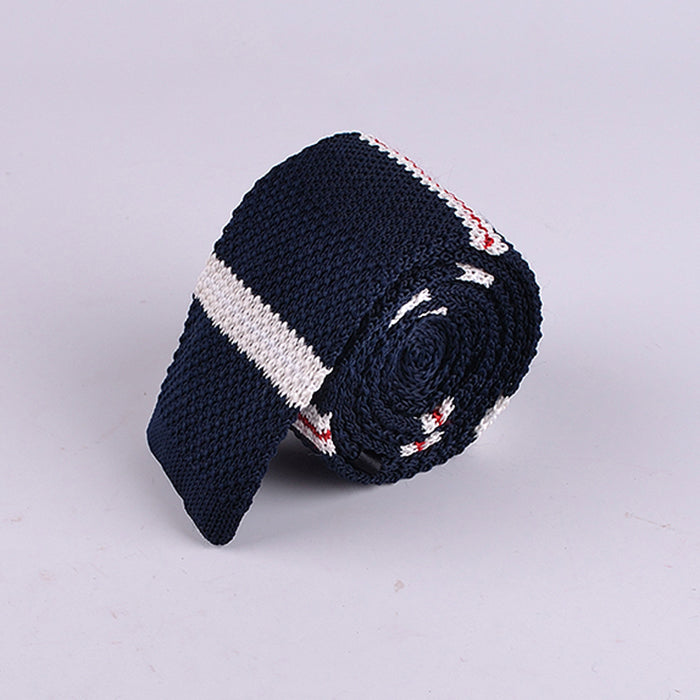 ALTERNATE STRIPE KNIT TIES