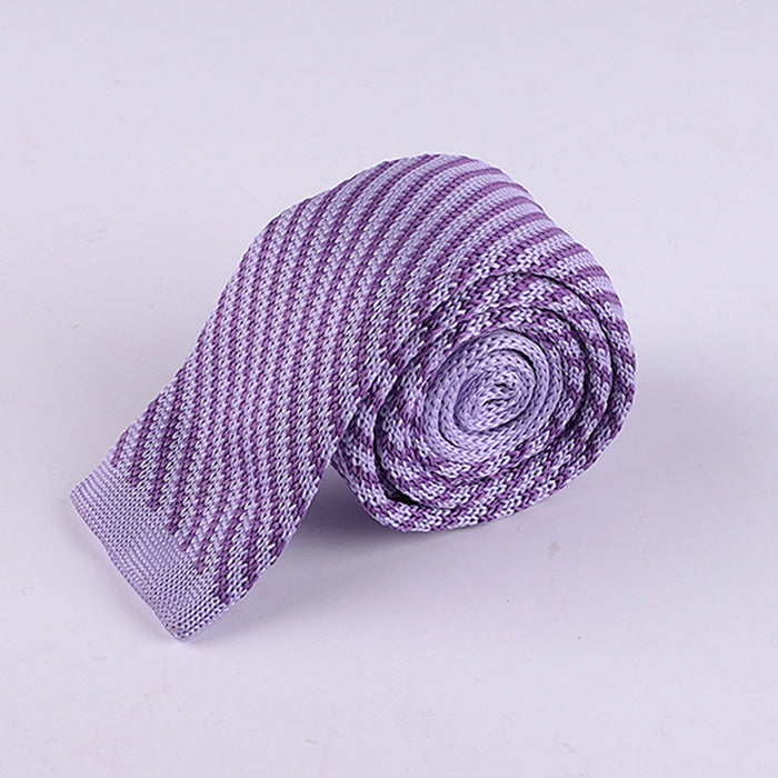 DIAGONAL THIN STRIPE KNIT TIES