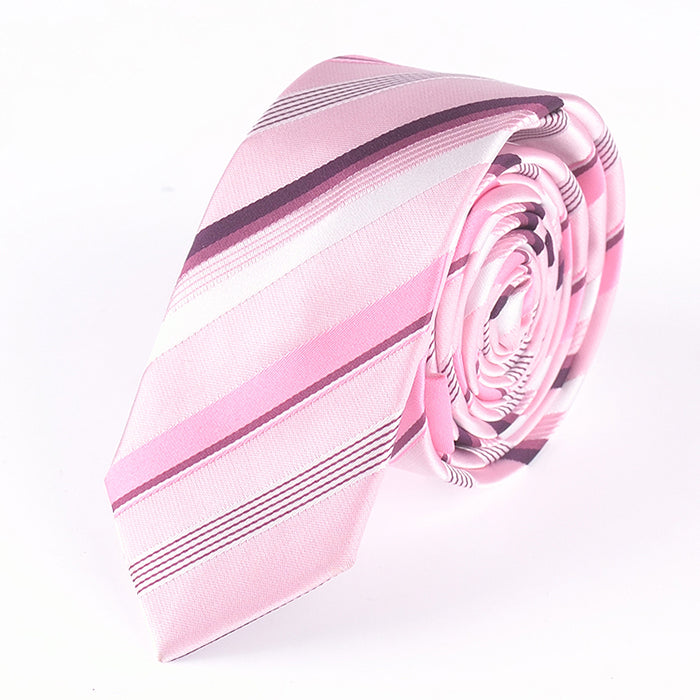 SOFT PINK MULTI STRIPE TIE