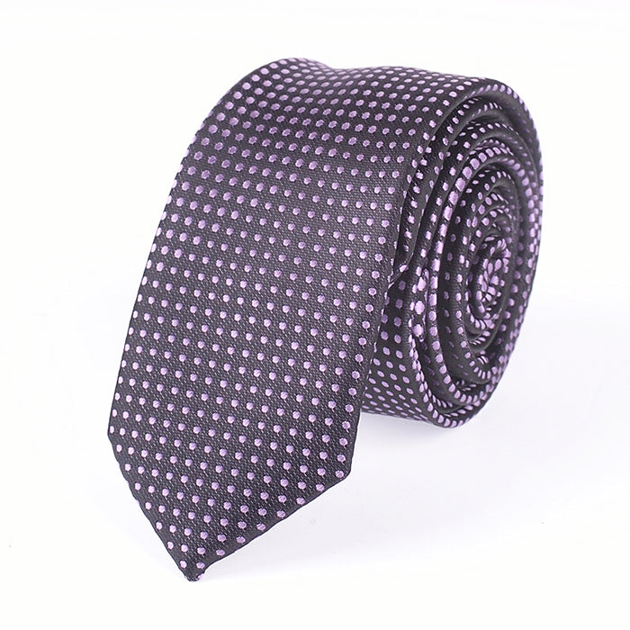 PURPLE DOT TIE