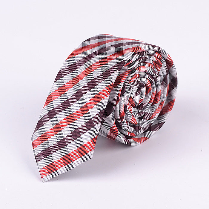 MULTI COLOR GINGHAM PLAID TIE