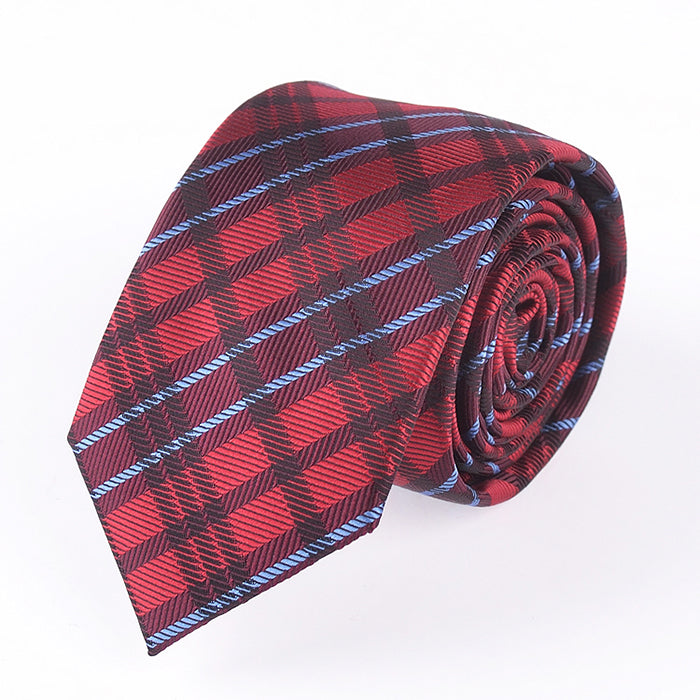 RED TARTAN PLAID TIE