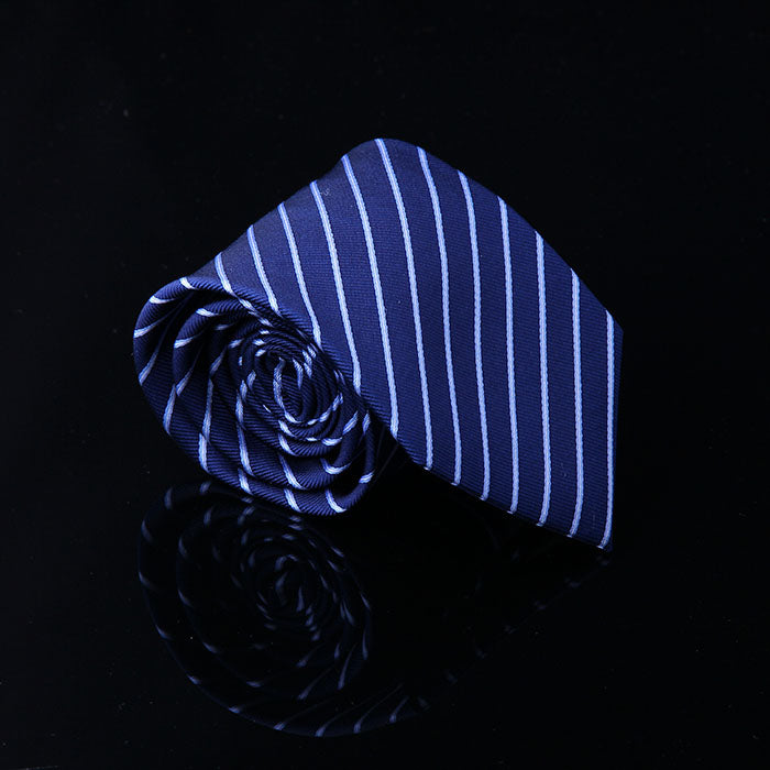 DIAGONAL PENCIL STRIPE SILK TIE