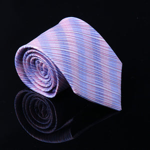 TEXTURED STRIPE SILK TIES