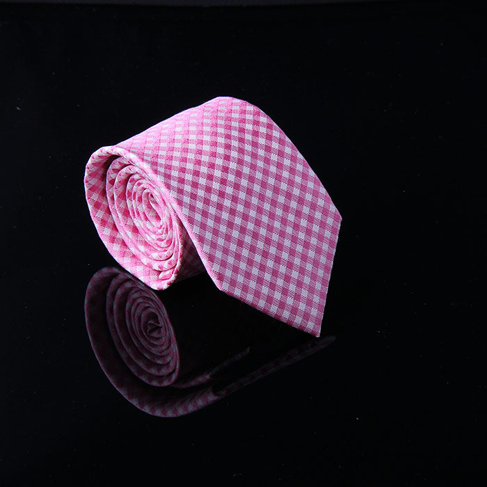 GINGHAM PLAID SILK TIES