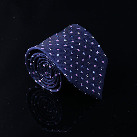 WINDOWPANE DIAGONAL PLAID SILK TIES