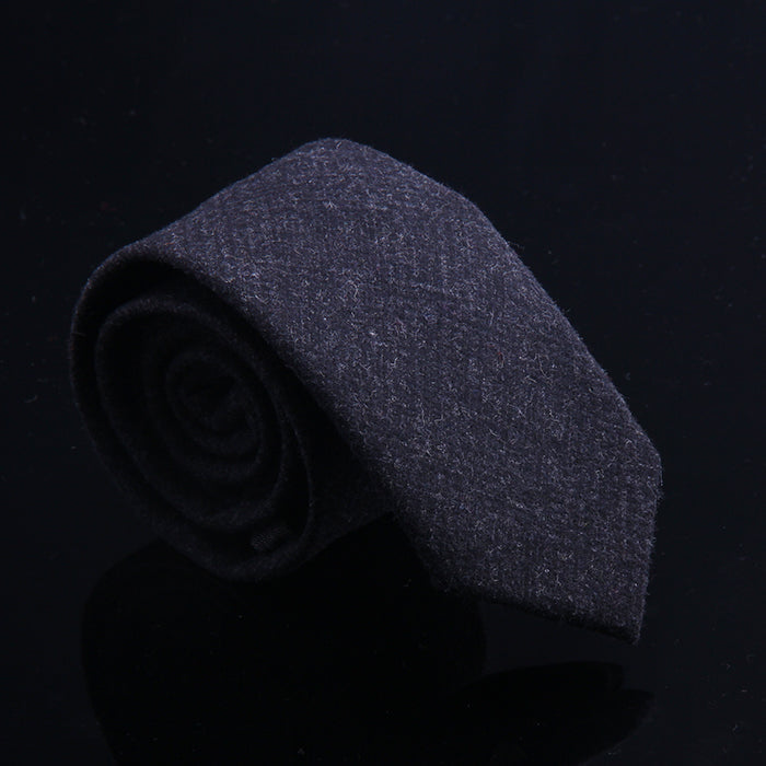 SOLID HEATHER WOOL TIES