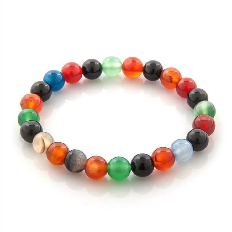 TOURMALINE NATURAL CRYSTAL BEADS STRETCH BRACELETS