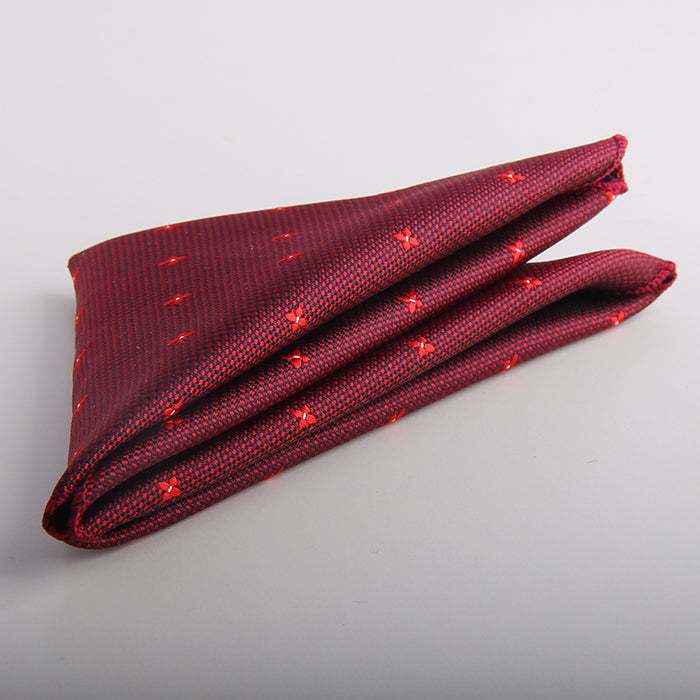NEAT GRID POCKET SQUARE