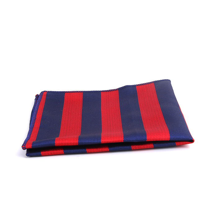 DIAGONAL BENGAL STRIPE POCKET SQUARES