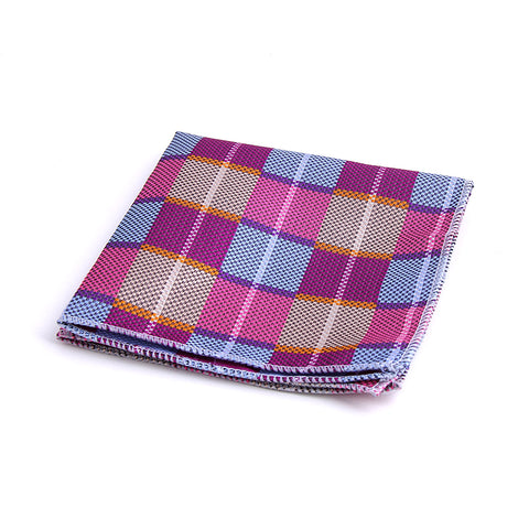 DIAGONAL BUFFALO PLAID POCKET SQUARES