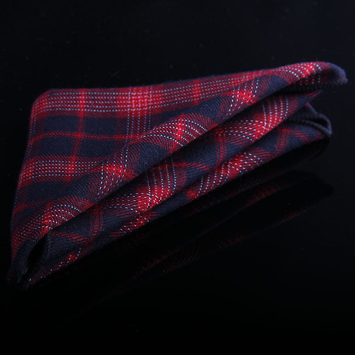 MULTI TARTAN PLAID POCKET SQUARE