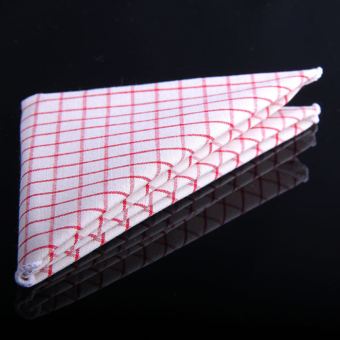 MINI WINDOWPANE PLAID POCKET SQUARES
