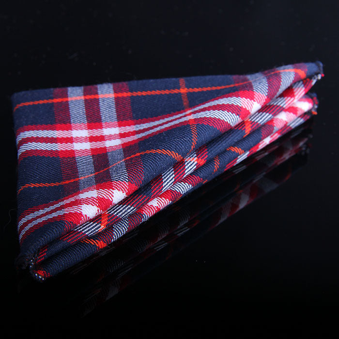 TARTAN FINE PLAID POCKET SQUARES