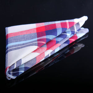 BRIGHT MADRAS PLAID POCKET SQUARES
