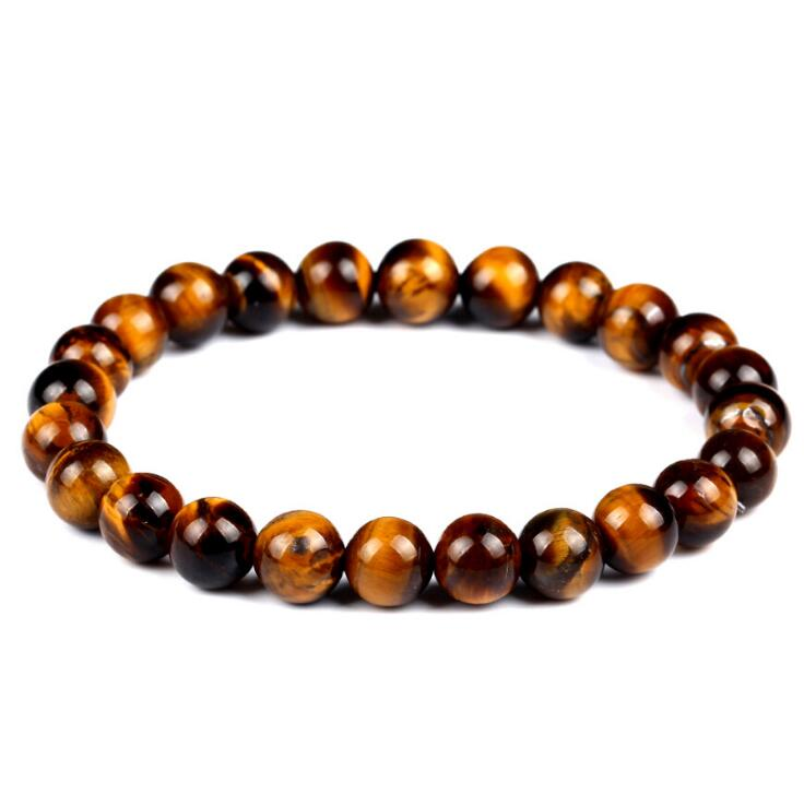 TIGER EYE AGATE BEADS STRETCH BRACELETS