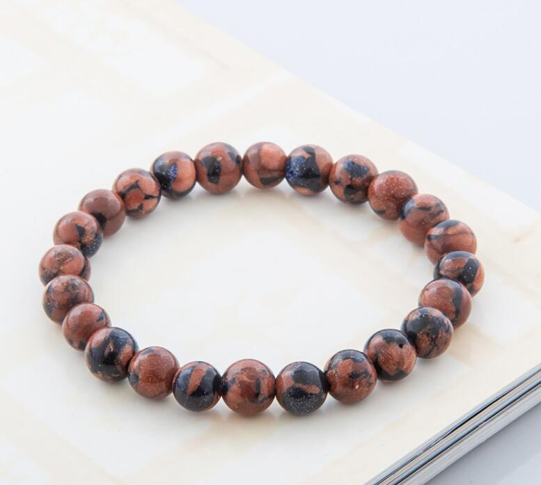 DARK TIGER EYE AGATE BEADS STRETCH BRACELETS