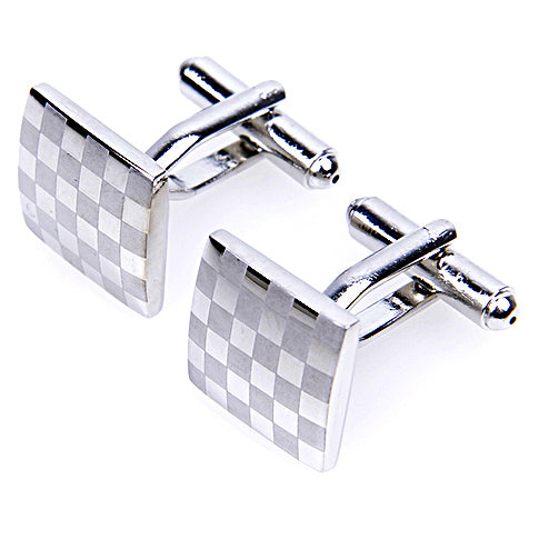 CHECK SQUARE CUFFLINKS