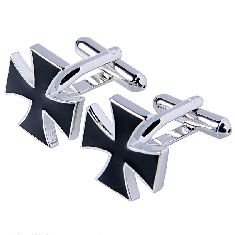 IRON CROSS SILVER CUFFLINKS