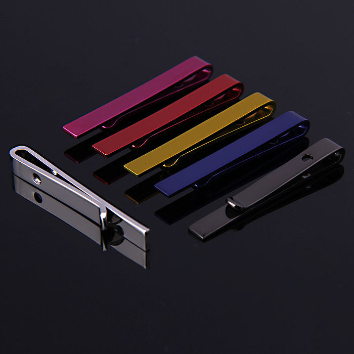 METALLIC COLORED SLIDE CLASP TIE BARS