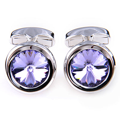FLORAL TWO COLOR CHAIN CUFFLINKS