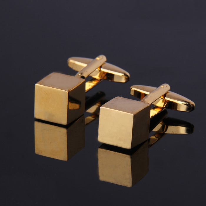 CUBE GOLD PLATED CUFFLINKS