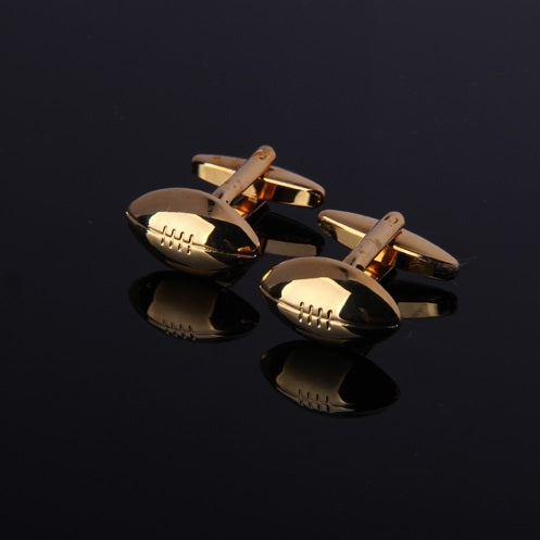 FOOTBALL GOLD CUFFLINKS