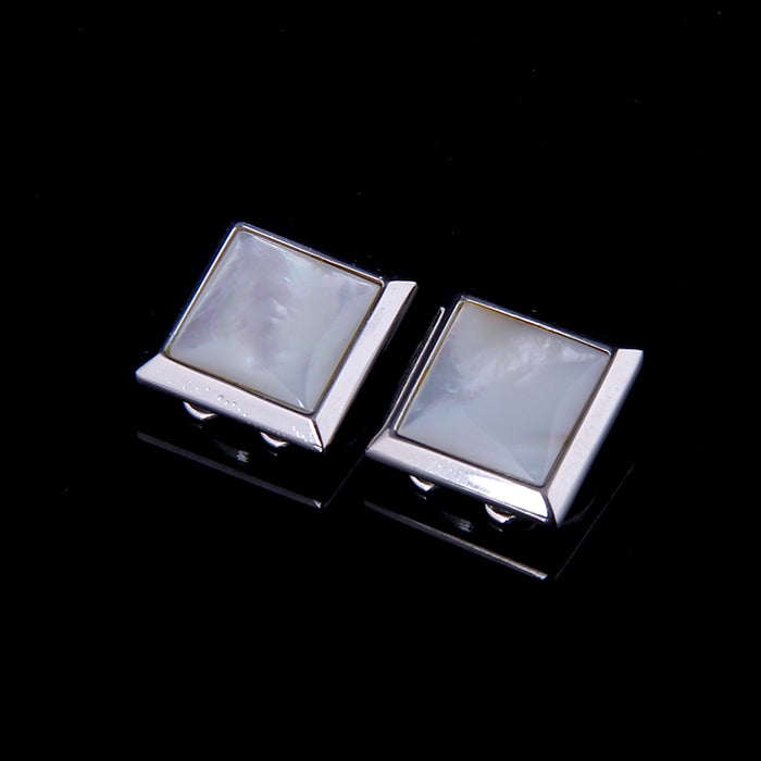 BUTTON COVER SHELL INLAID CUFFLINKS